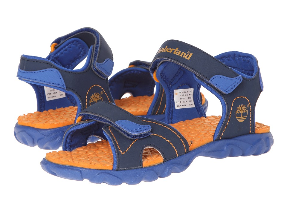 Timberland Kids - Splashtown 2-Strap Sandal (Little Kid) (Navy/Royal/Orange) Boys Shoes