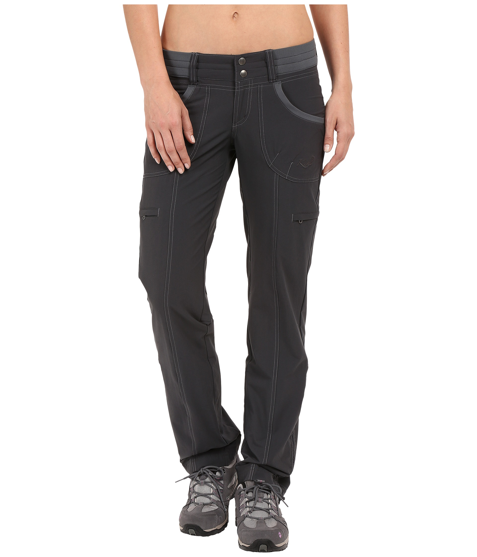 Model This Season, Relax With The Soft Ease Of Kuhls Mova Pants Knitted With A Woven Texture, These Stretch Nylon Pants Give You Goodlooking Street Wear With The Comfort Of Yoga Pants A Contoured Waist With Drawcord Allows Easy Onoff Of