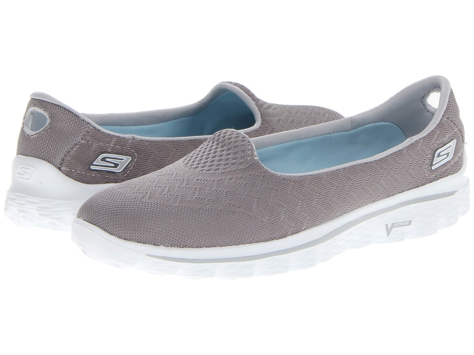 SKECHERS Performance - GOWalk 2 - Engineered (Gray) Womens Flat Shoes