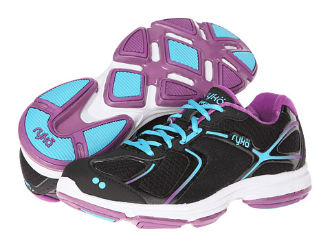 Ryka - Devotion (White/Vapor Grey/Steel Grey/Zuma Pink) - Footwear