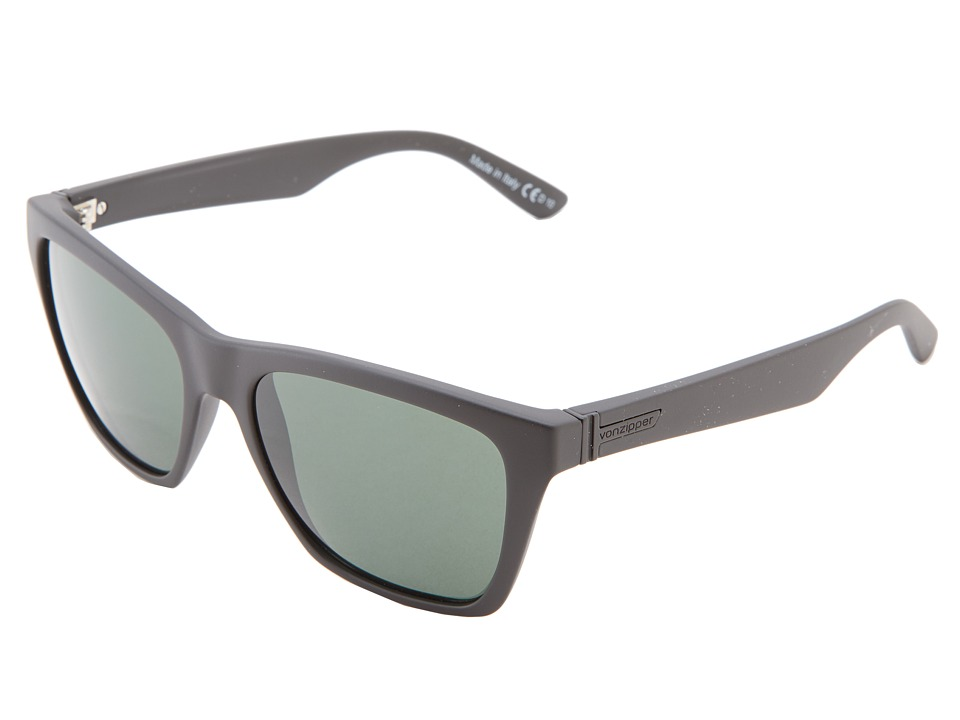 VonZipper Booker Black Satin/Vintage Grey Sport Sunglasses