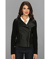 Vince Camuto - Ponte & Perf Side Zip Jacket