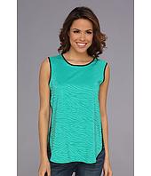 Vince Camuto - S/L Shirt Tail Jacquard Blouse