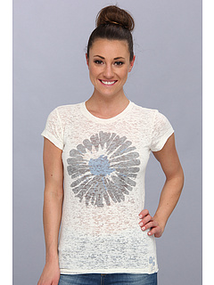 Life is good Top Notch Burnout Tee Simply Ivory