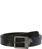 Versace Collection - Calf Belt w/ Smoke Medusa Buckle