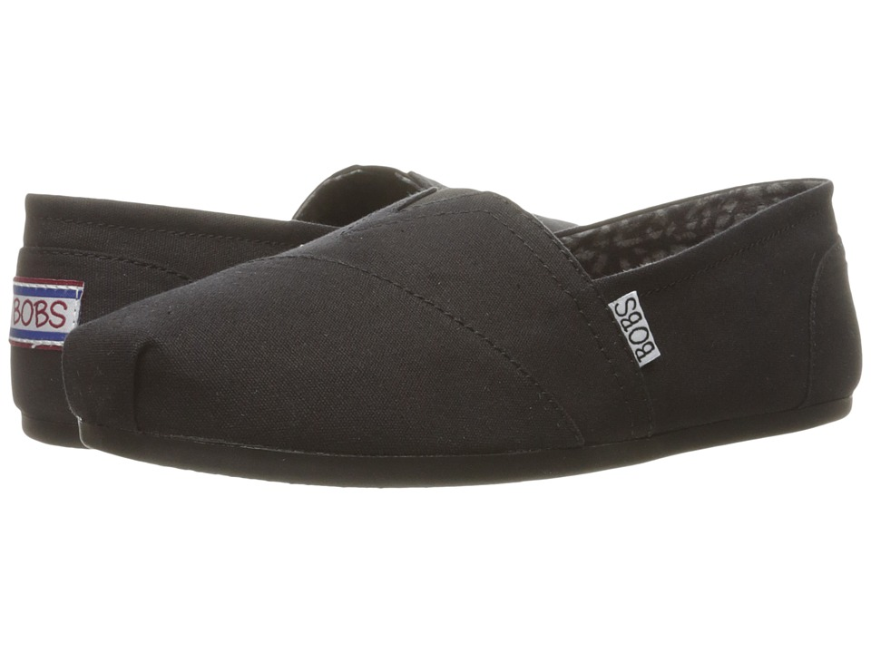 BOBS from SKECHERS - Bobs Plush - Peace and Love (Black) Womens Shoes
