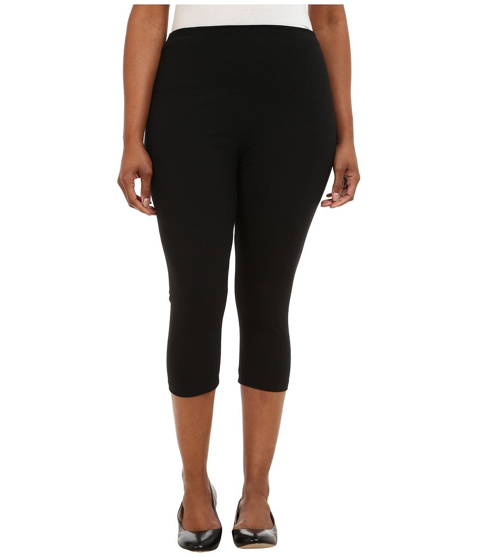 Lysse - Plus Size Cotton Capri 12150 (Black) Womens Capri