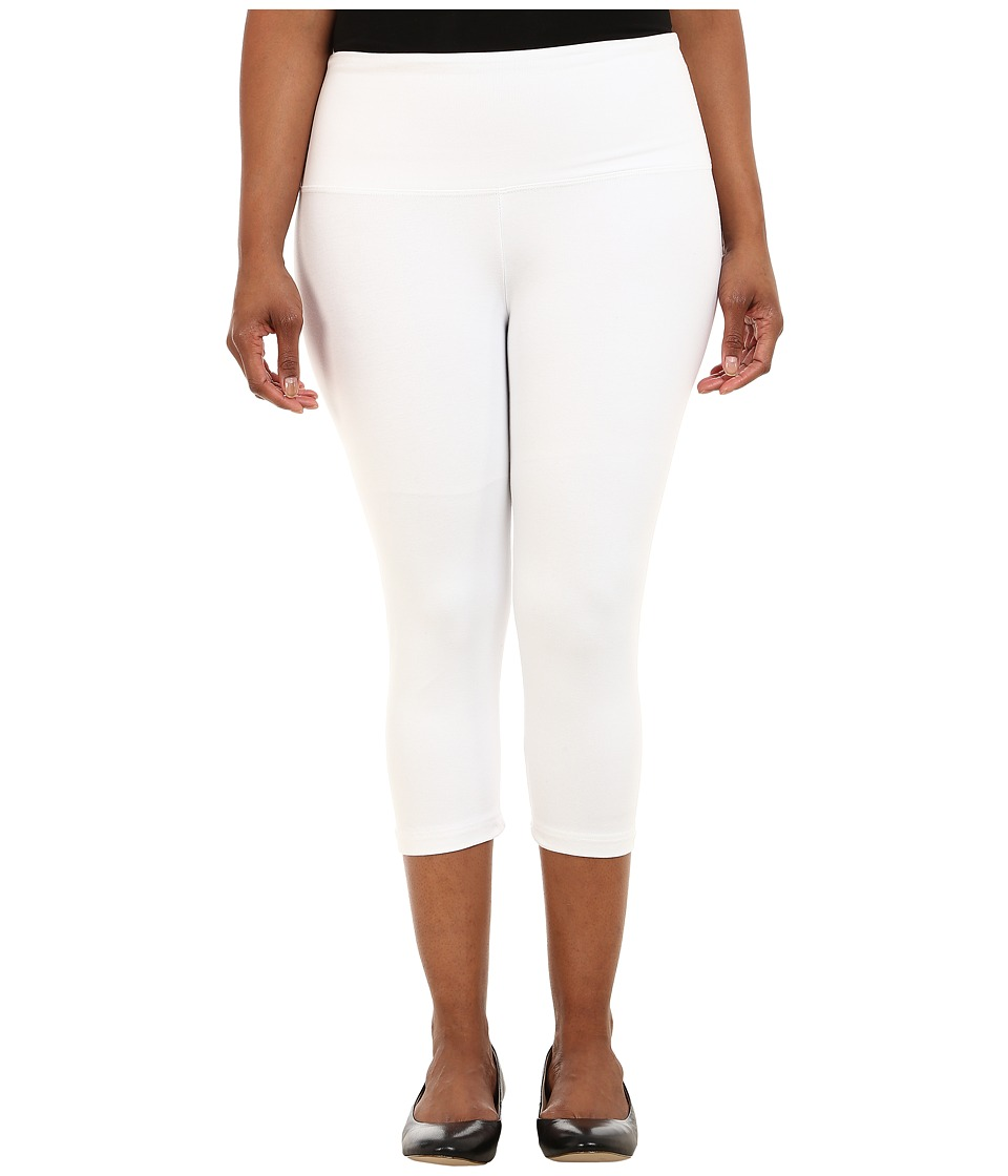 Lysse Plus Size Cotton Capri 12150 (White) Women