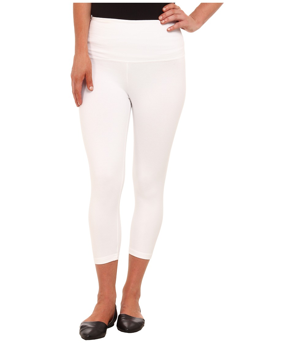 Lysse Cotton Capri 1215 (White) Women's Capri