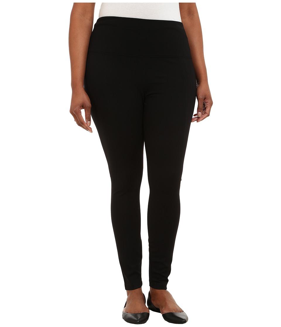 Lysse - Plus Size Ponte Legging w/ Center Seam 15190 (Black) Womens Casual Pants