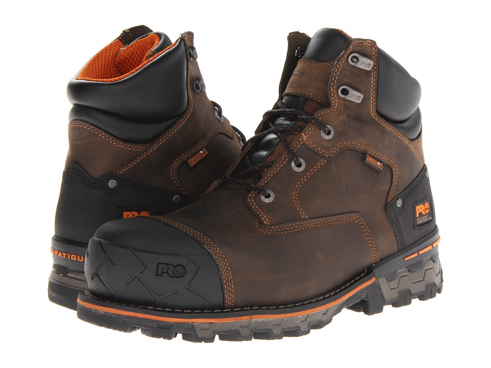 Timberland PRO - Boondock WP 6 Comp Toe (Brown) Mens Work Boots
