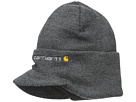 Carhartt Knit Hat with Visor (Coal Heather)