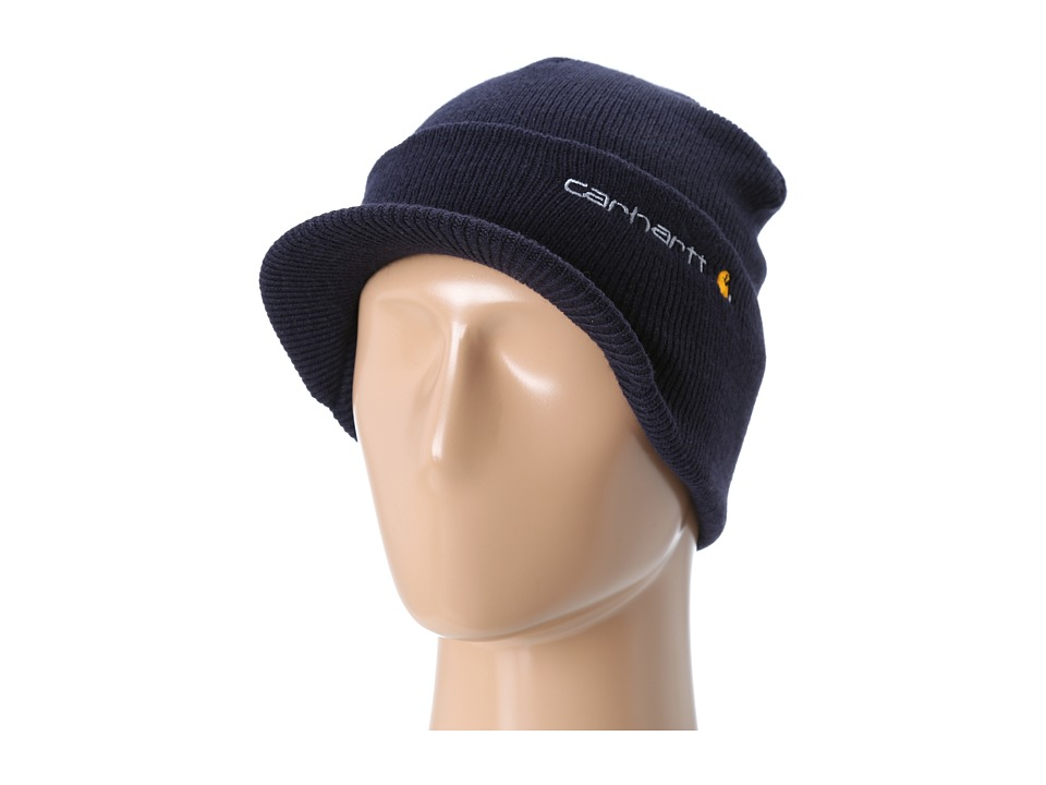 Carhartt - Knit Hat with Visor (Navy) Caps