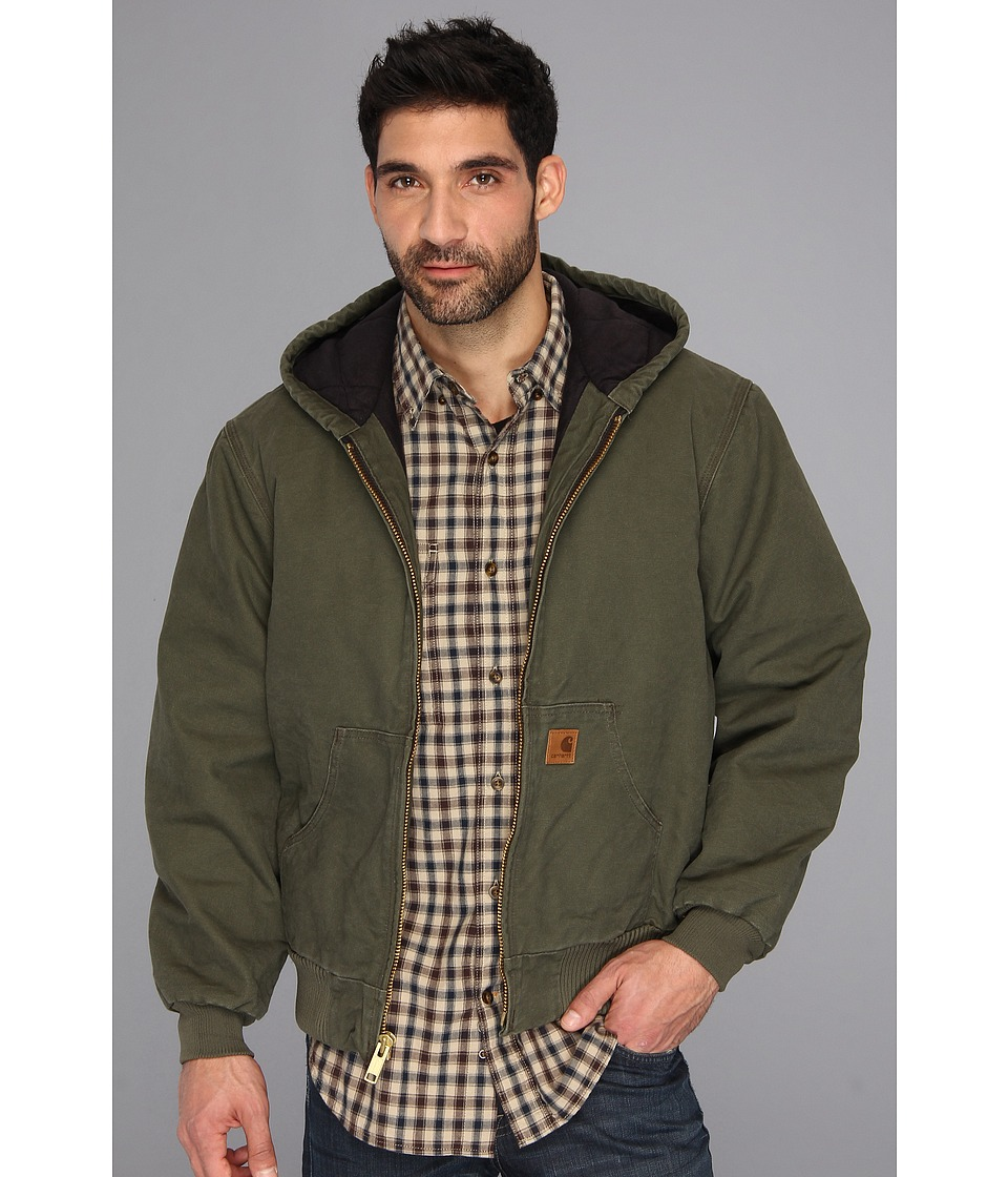 Carhartt Big Tall QFL Sandstone Active Jacket Army Green Mens Jacket