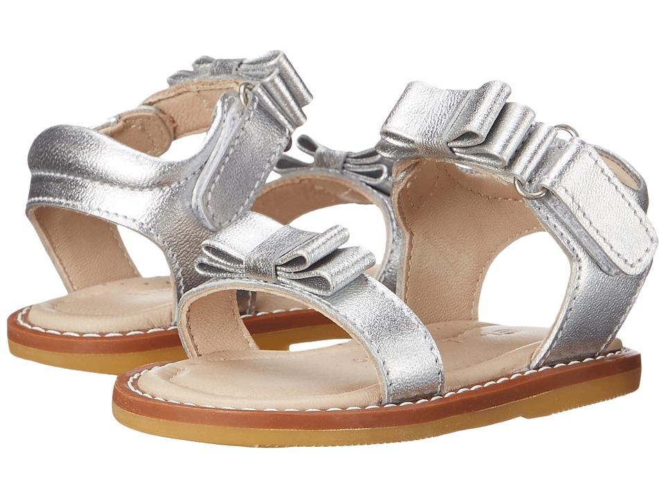 Elephantito Nicole Sandal Toddler Silver Girls Shoes