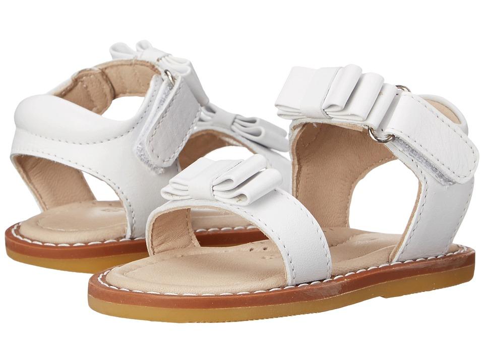 Elephantito Nicole Sandal Toddler White Girls Shoes