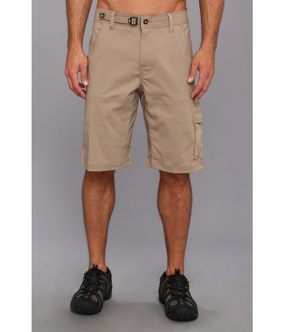 Prana Stretch Zion Short (Dark Khaki) Men