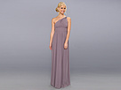 Donna Morgan One Shoulder Strapless Gown Rachel (Grey Ridge)