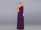 Donna Morgan One Shoulder Strapless Gown - Rachel (Perfect Plum)