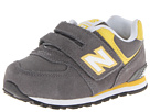 New Balance Kids KV574 Toddler Grey, Yellow Shoes