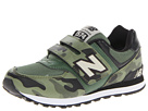 New Balance Kids KV574 Little Kid, Big Kid Arm Olive, Green Shoes