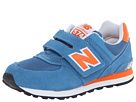 New Balance Kids KV574 Little Kid, Big Kid Blue, Orange Shoes