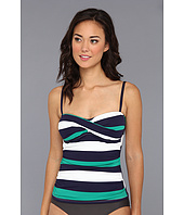 Tommy Bahama - Mare Rugby Stripe Twist Front Cup Tankini Top