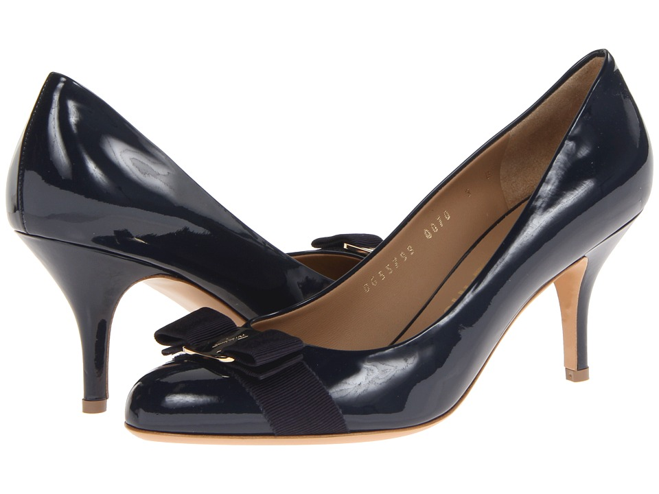 Salvatore Ferragamo Carla 70 (Oxford Blue) High Heels