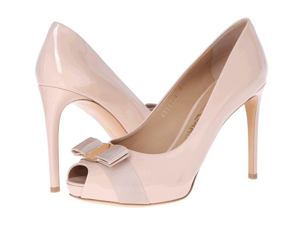 Salvatore Ferragamo - Plum (New Bisque) High Heels