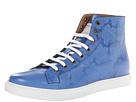 Marc Jacobs - Floral Embossed High Top Trainer (Cobalt) - Footwear