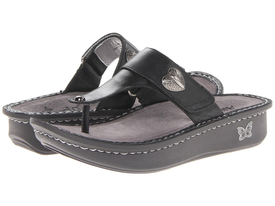 Alegria Carina Black Nappa Leather Womens Sandals