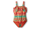 O'Neill Kids - Sunsets One-Piece Swimsuit (Big Kids) (Coral) - Apparel<br />