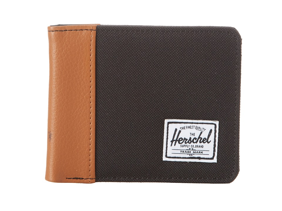 Herschel Supply Co. - Edward (Black/Tan) Bi-fold Wallet