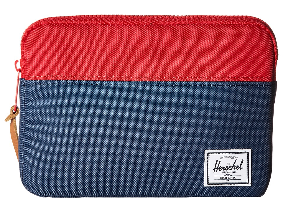 Herschel Supply Co. - Anchor Sleeve for iPad Mini (Navy/Red) Computer Bags