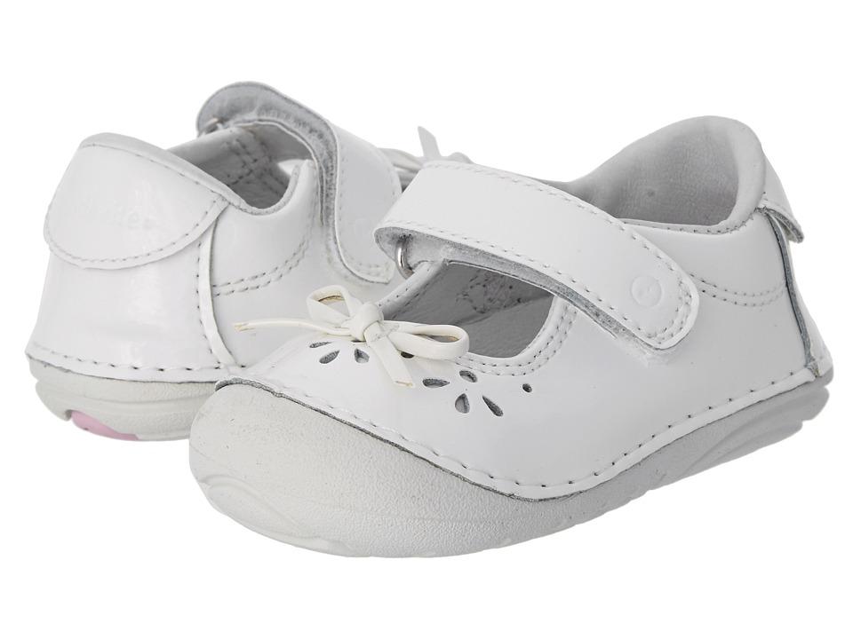 Stride Rite SRT SM Jane (Infant/Toddler) (White) Girl's Shoes
