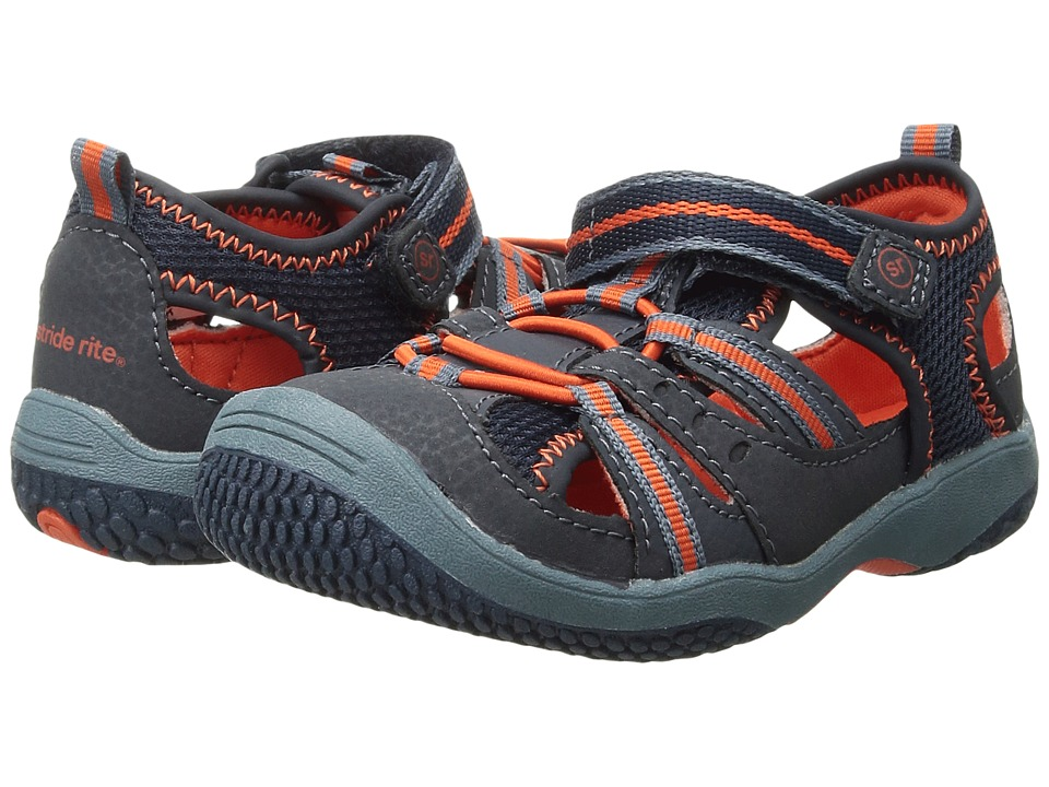 Stride Rite Riff (Infant/Toddler) (Navy/Orange) Boys Shoes