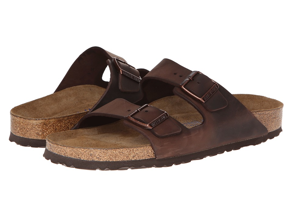 Birkenstock Arizona Soft Footbed Leather (Unisex) (Habana) Sandals