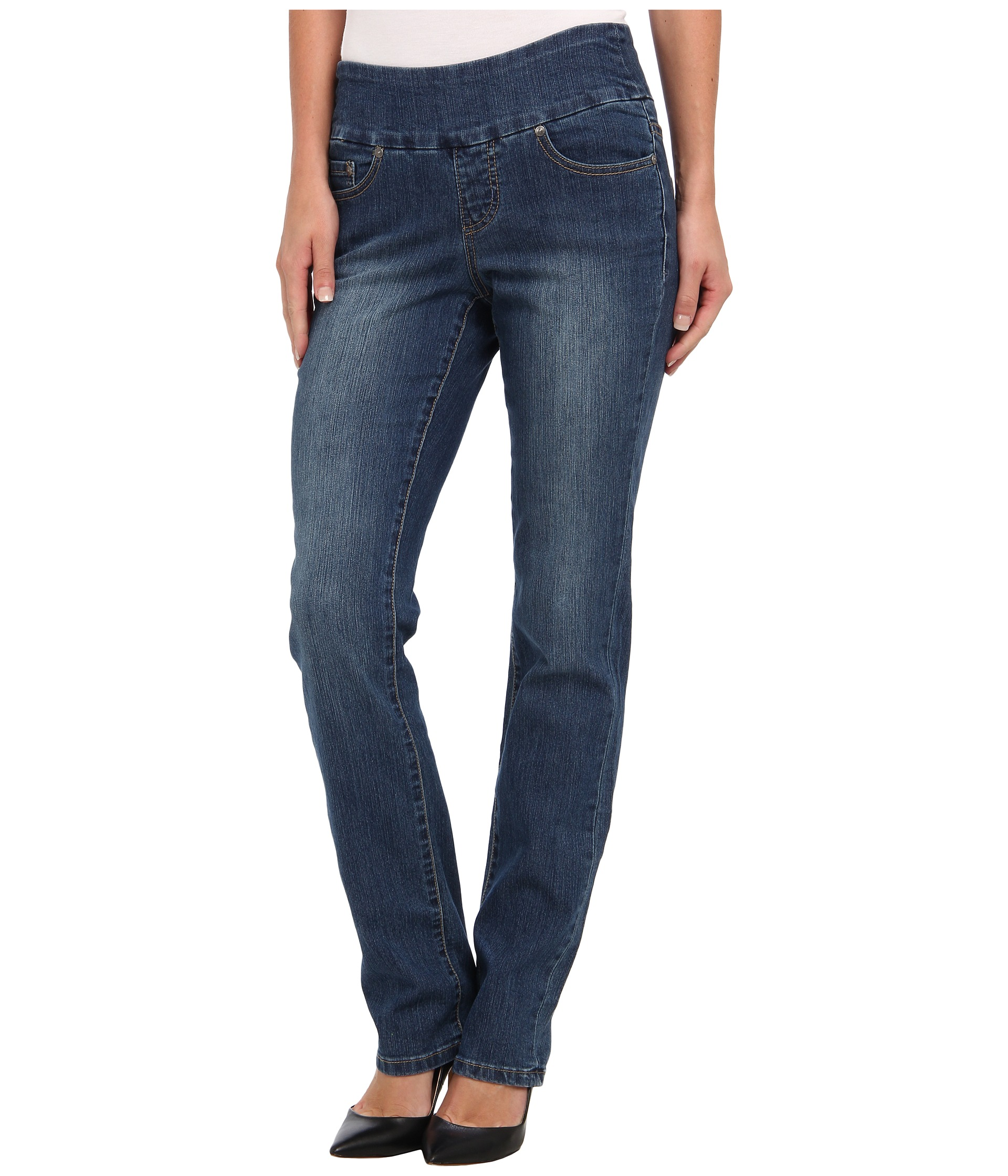 Jag Jeans Peri Pull-On Straight in Blue Dive - Zappos.com Free Shipping BOTH Ways