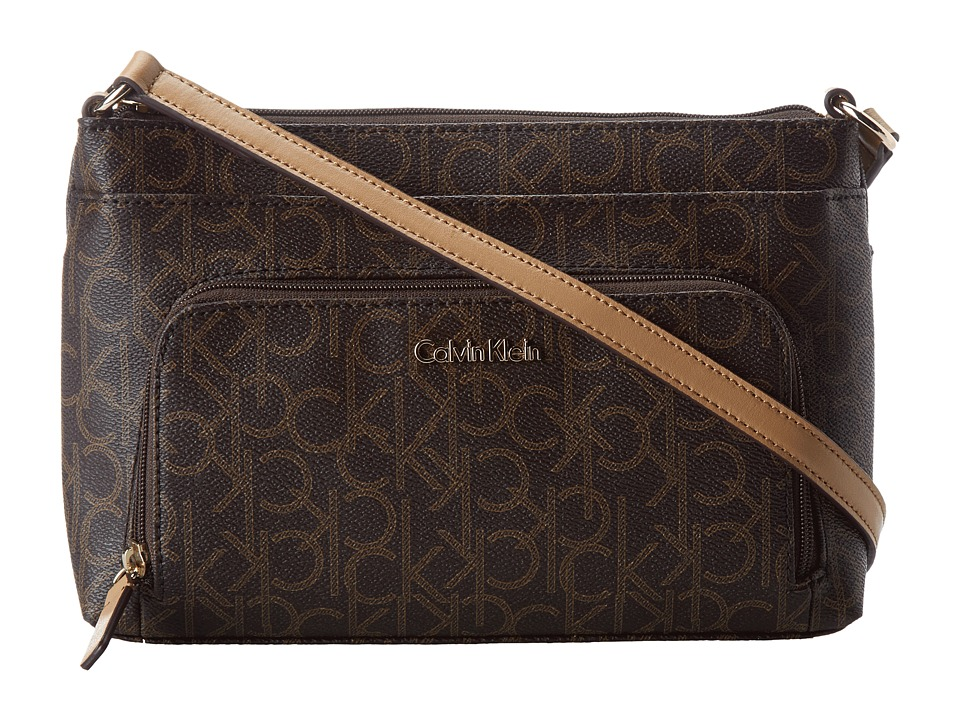 Calvin Klein - Key Items H3JEJ2CB (Brown/Khaki/Camel) Cross Body Handbags