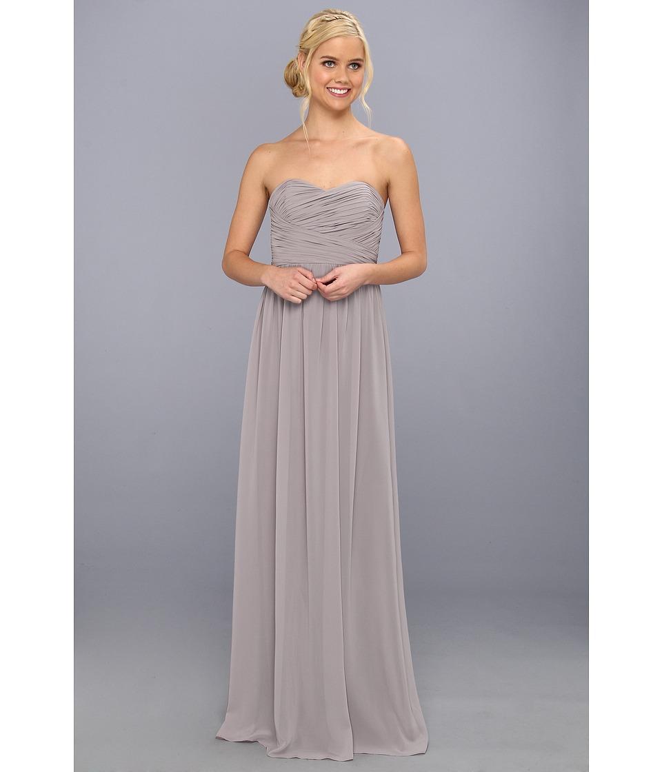 Donna Morgan - Strapless Chiffon Gown - Stephanie (Sterling) Women's Dress