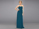Donna Morgan Strapless Chiffon Gown - Stephanie (Victorian Jade)
