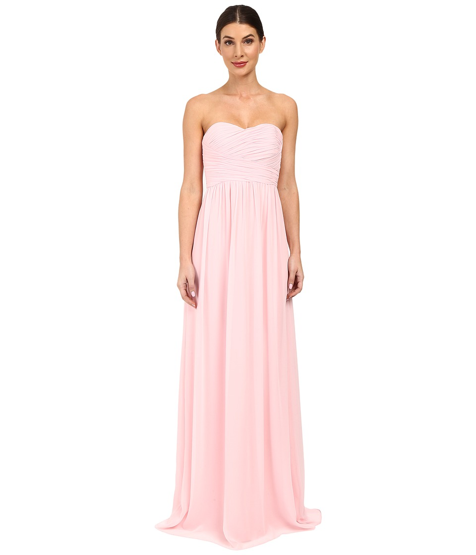 Donna Morgan Strapless Chiffon Gown - Stephanie (Blush) W...