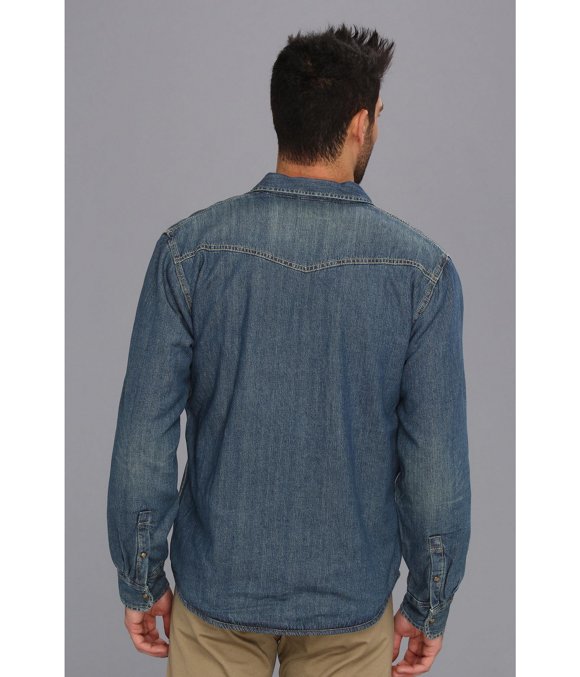 Levis Haywood Sherpa Lined Slub Denim Shirt Jacket