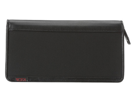 Tumi Alpha - Zip Around Travel Wallet - Black