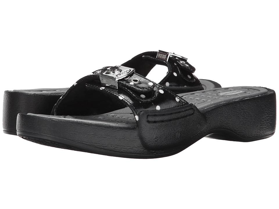 Dr. Scholls Rock Black/White Polka Dot Womens Shoes