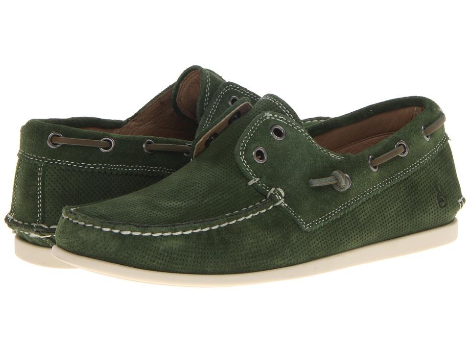 John Varvatos Schooner Boat Kelly Green Mens Slip on Shoes