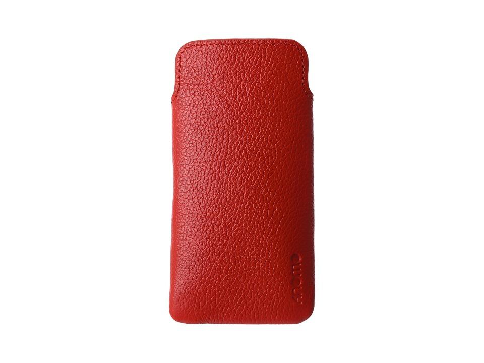 KNOMO London - Tech - Leather Slim Case (Terracotta) Cell Phone Case