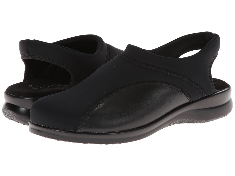 Flexus Flexia Black Womens Slip on Shoes