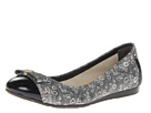 Cole Haan - Air Monica Ballet (Black And White Ring Lizard Print/Black Patent) - Footwear