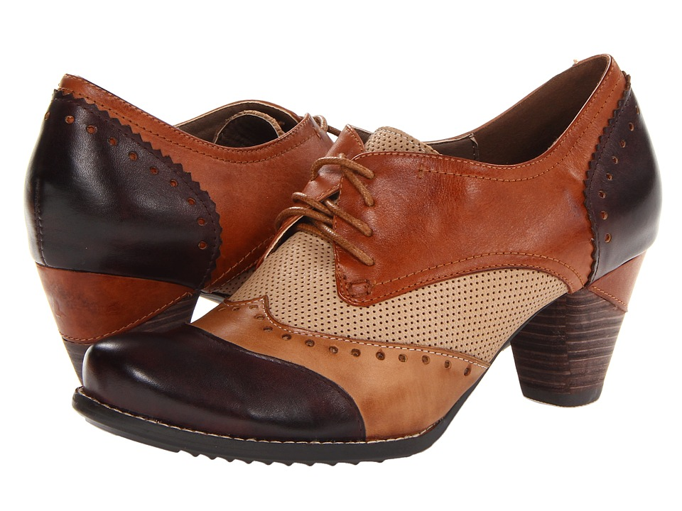 Spring Step Bardot (Brown) High Heels